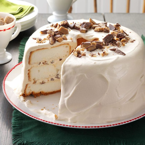 Toffee Angel Food Cake