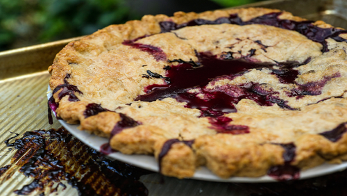 Baking A Sumptuous Homemade Blueberry Pie