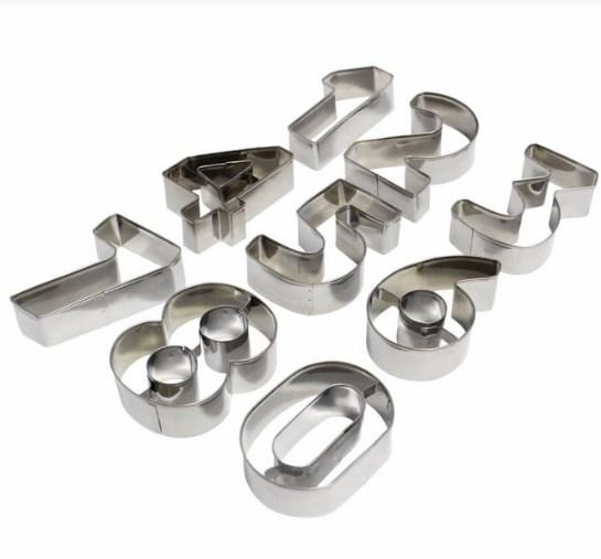 Number Shaped Cookie Cutter(9pcs). - bakers-dozen-store