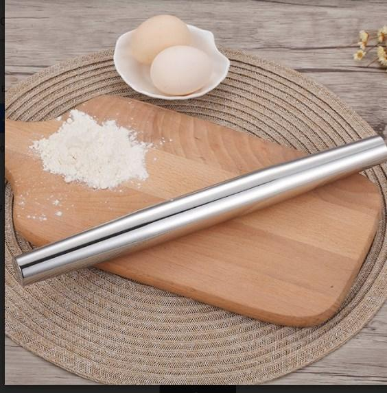 Stainless Steel Fondant Rolling Pin. - bakers-dozen-store