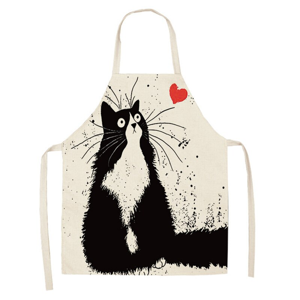 Cat Patterned Kitchen Apron