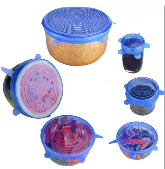 6PCS Silicone Stretch Lids - bakers-dozen-store