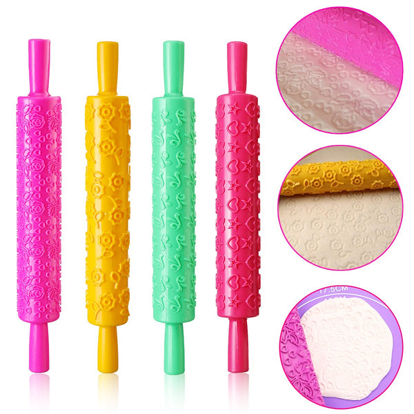 Silicone Baking Mat with Cutter Set, Rolling Pins and Brush