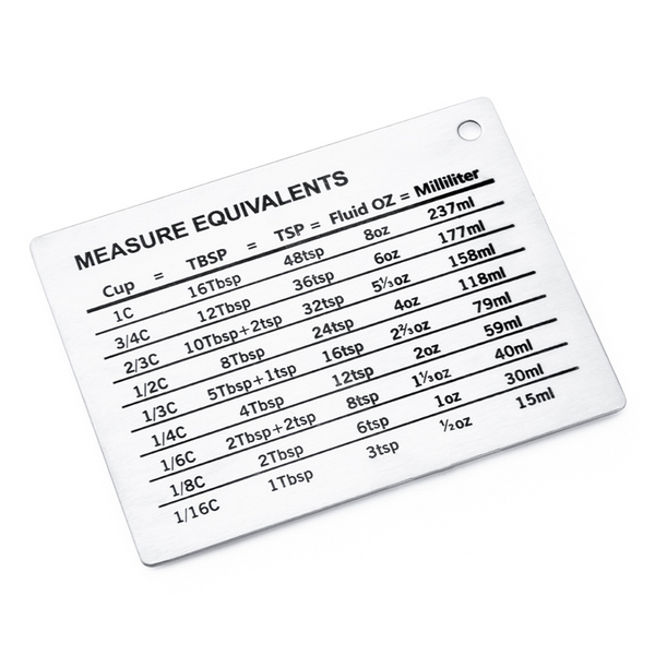 Magnetic Home Measuring Cups Conversion Chart