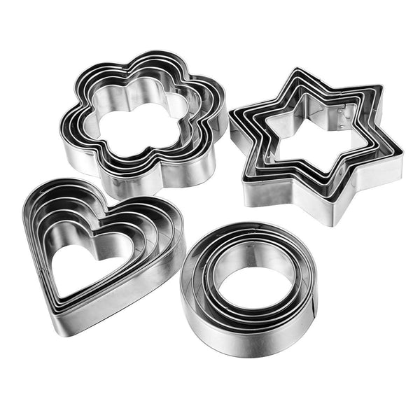 Cookie Cutter Biscuit Molds(24 Pcs).