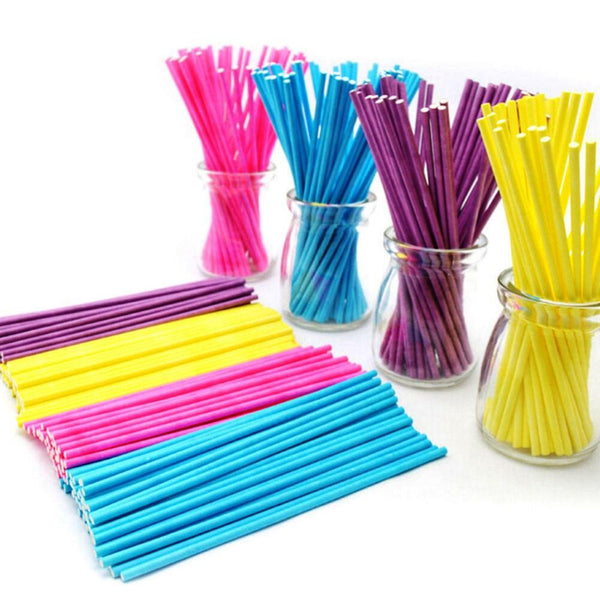 Food-Grade Paper Lollipop Stick(100pcs). - bakers-dozen-store