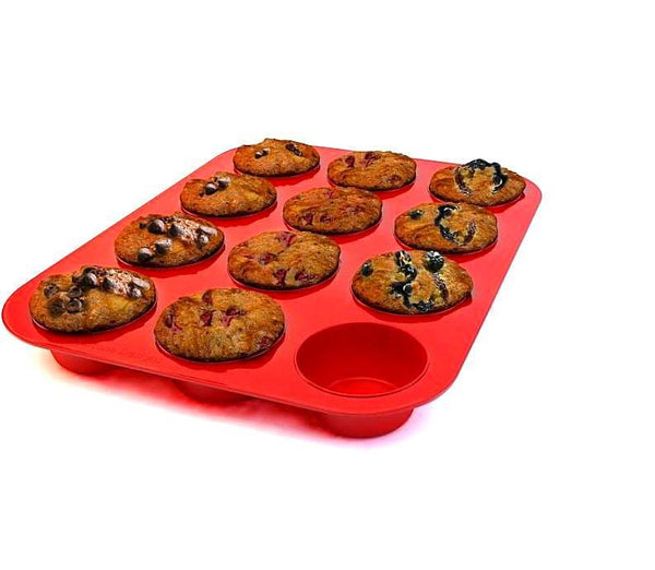 Silicone Muffin Pan(12cups).