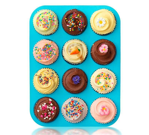 Silicone Muffin Pan(12cups). - bakers-dozen-store
