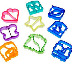 Cookie Cutter Mold Animal Heart & Star Shapes.
