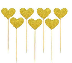 Hearts and Shining Star Topper(12pcs).