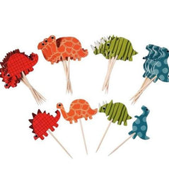 Dinosaur-shaped Cupcake Topper (24 pcs).