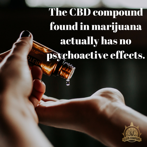 CBD has no psychoactive effects