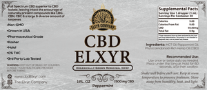 Peppermint CBD Elxyr 1500mg 1oz