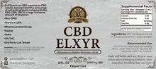 Peppermint CBD Elxyr 3000mg 2oz
