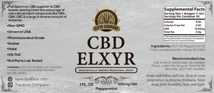Peppermint CBD Elxyr 500mg 1oz