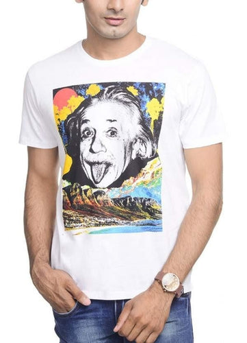 EINSTEIN THE WORLD AS I SEE White T-Shirt - FunShirtsUSA