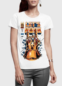 LET'S ROCK Women's T-Shirt - funshirtsusa