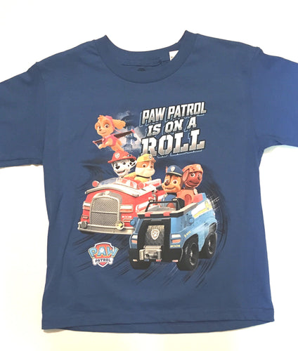 PAW PATROL IS ON THE ROLL Children 100% Cotton Tee Shirt