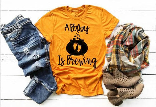 A BABY IS BREWING Women's T-Shirt 0919 - funshirtsusa