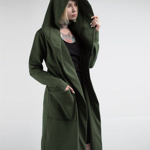 #2019 Fashion Men Women Spring Cardigan Hoodie Warm Hooded Solid Coat Jacket Burning Man Costume Oversize - funshirtsusa