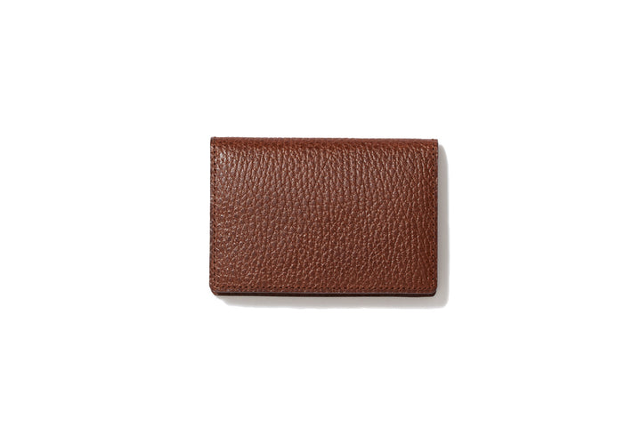 Business card case cigar brown