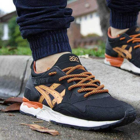 Lace Space - Orange/Black - Rope Laces