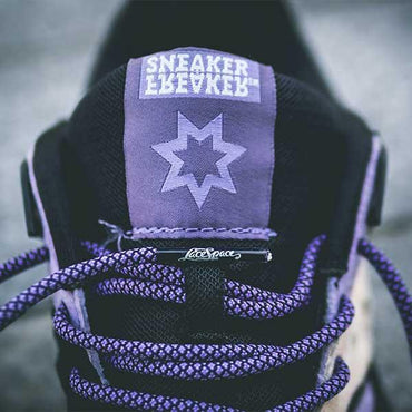 Lace Space - Purple/Black - Rope Laces