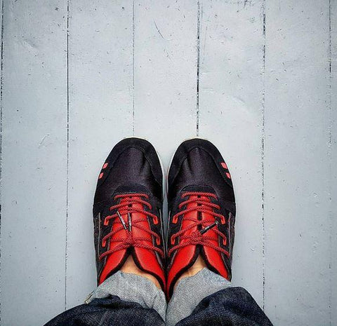 Lace Space - Red/Black - Rope Laces