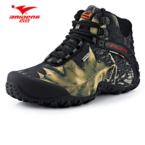 New waterproof canvas hiking shoes boots Anti-skid Wear resistant