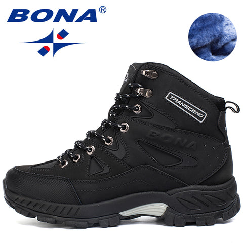 BONA Men Hiking Shoes Anti-Slip Outdoor Sport Shoes Walking Sneakers