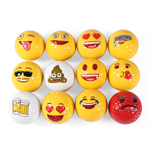 12pcs Golf Ball Emoji Funny Cute Golf Balls