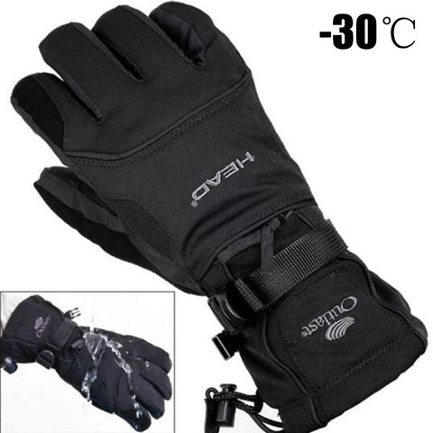 Men's Ski Gloves Fleece Snowboard Gloves