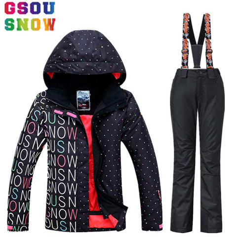Brand Waterproof Ski Suit Women Ski Jacket Pants Winter Snowboard Jacket
