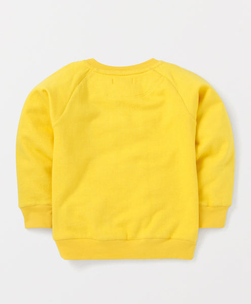 Olele® Boys Lemon Yellow Cotton Fleece Sweatshirt