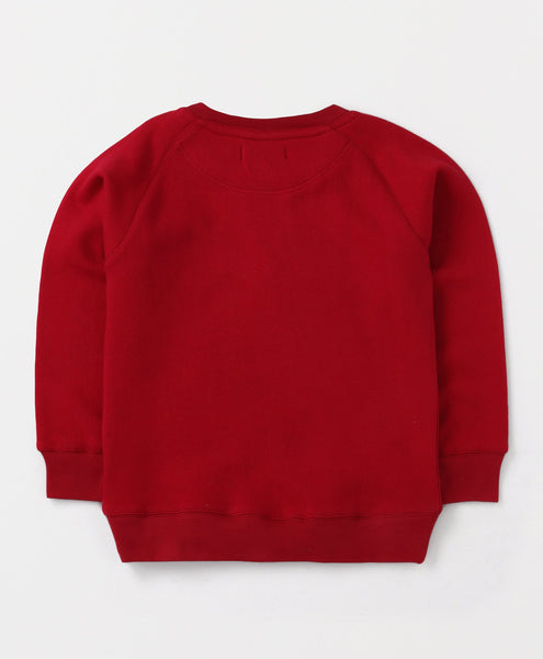 Olele® Boys Royal Red Cotton Fleece Sweatshirt