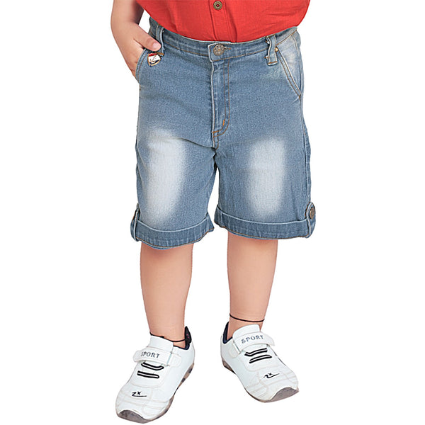 Olele® Boys Premium Denim Shorts with Loop Closure