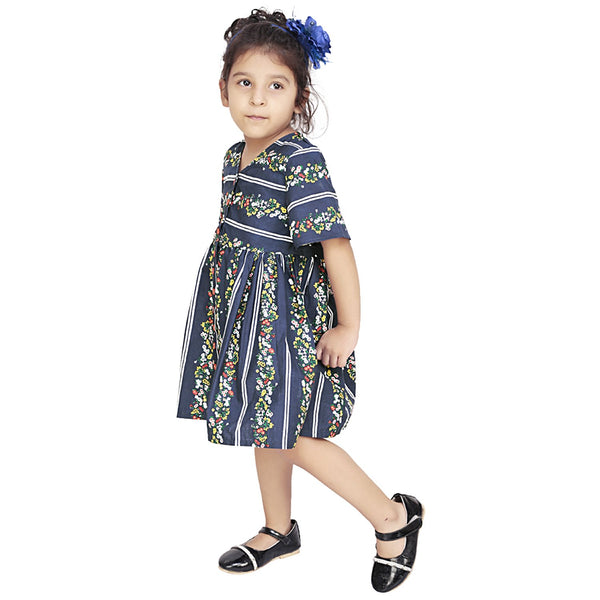 Olele® Stripe Flower Print Dress