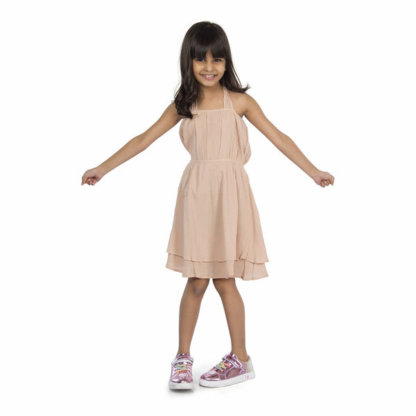 Olele® Cotton Crepe Tie Up Dress