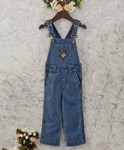 Olele® Star Patch Denim Dungaree for Boys