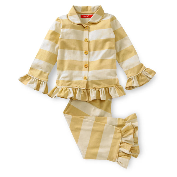 Olele® Yellow Stripe Nightsuit for GIRLS