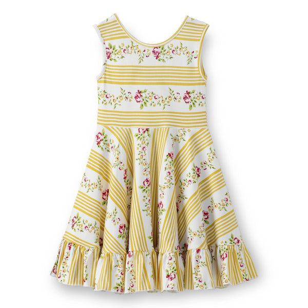 Olele® Girls Yellow Stripe Dress