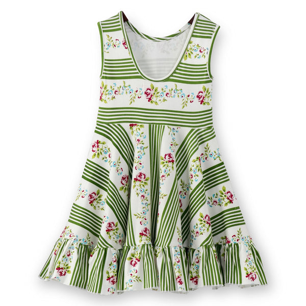 Olele® Girls Green Stripe Dress