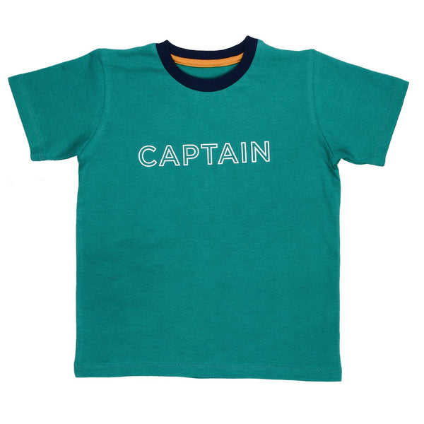Olele® RoundNeck Half Sleev Captain Tshirt for Boys