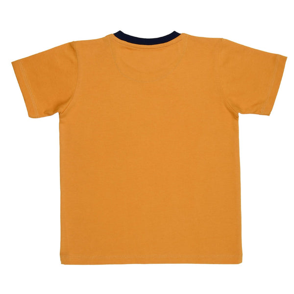 Olele® RoundNeck OliveYou Tshirt  Yellow for Boys