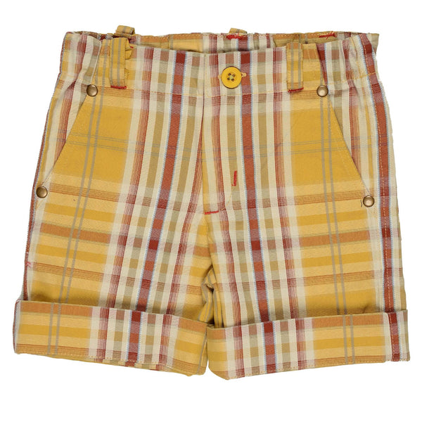 Olele®Boys Short Pant  Yellow Stripe