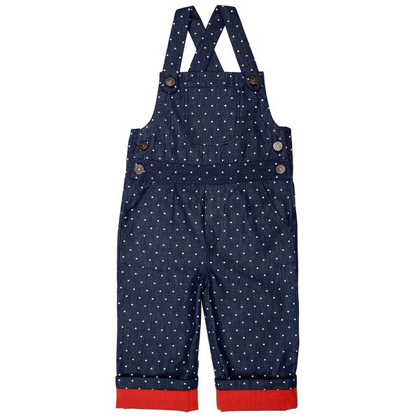 Olele® Summer Polka Chambray Dungaree For GIRLS