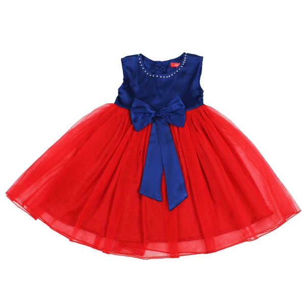 Olele® Girls Dress  Red Bow