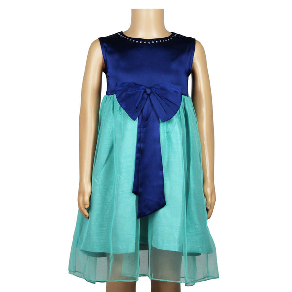 Olele® Girls Dress Teal Bow