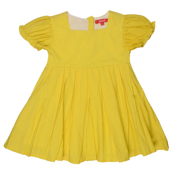 Olele® Girls Yellow Pleat Dress