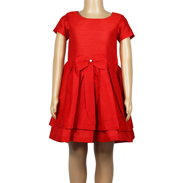 Olele® Girls Dress Red Pearl